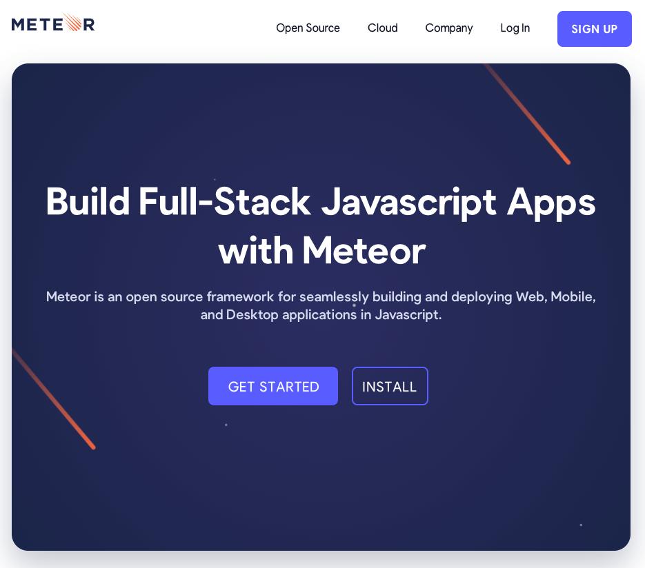 Trang web của Meteor