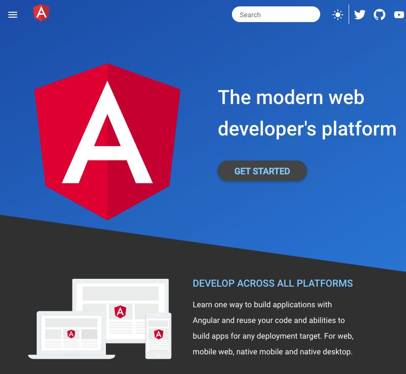 Trang web của Angular